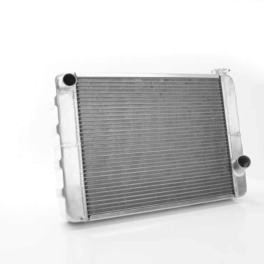 Griffin 125201XS Radiator, 24 in W x 15.50 in H x 3 in D, Driver Side Inlet, Passenger Side Outlet, Aluminum, Natural, Universal, Each