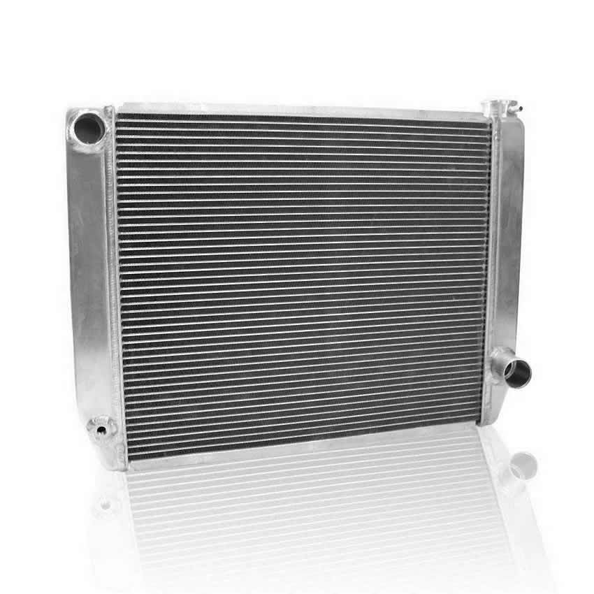Griffin 125222X Radiator, ClassicCool, 26 in W x 19 in H x 3 in D, Driver Side Inlet, Passenger Side Outlet, Aluminum, Natural, Each