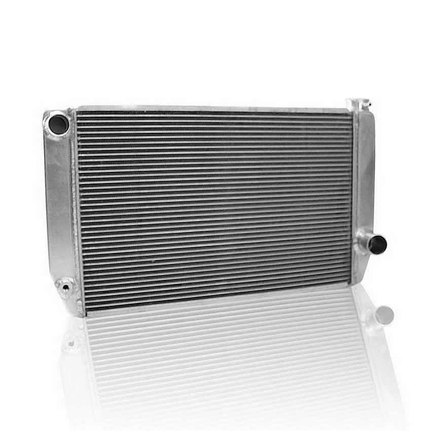 Griffin 125241X Radiator, ClassicCool, 27-1/2 in W x 15-1/2 in H x 3 in D, Driver Side Inlet, Passenger Side Outlet, Aluminum, Natural, Each