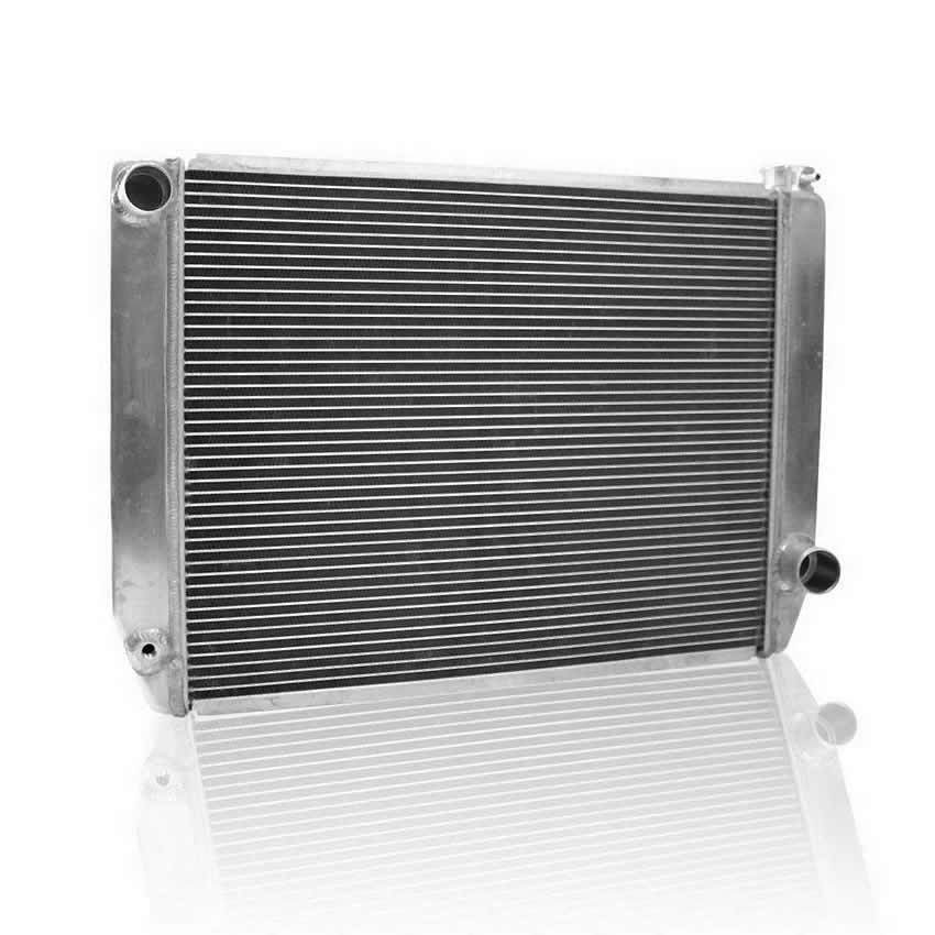 Griffin 125242X Radiator, ClassicCool, 27-1/2 in W x 19 in H x 3 in D, Driver Side Inlet, Passenger Side Outlet, Aluminum, Natural, Each