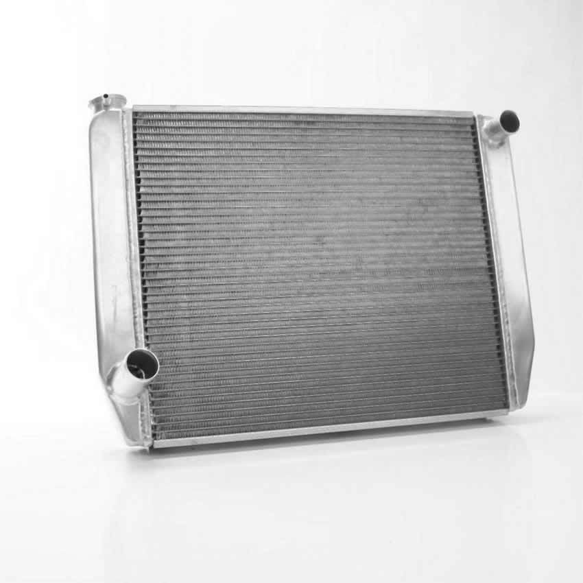 Griffin 126222X Radiator, Universal Fit, 26 in W x 19 in H x 3 in D, Passenger Side Inlet, Driver Side Outlet, Aluminum, Natural, Each