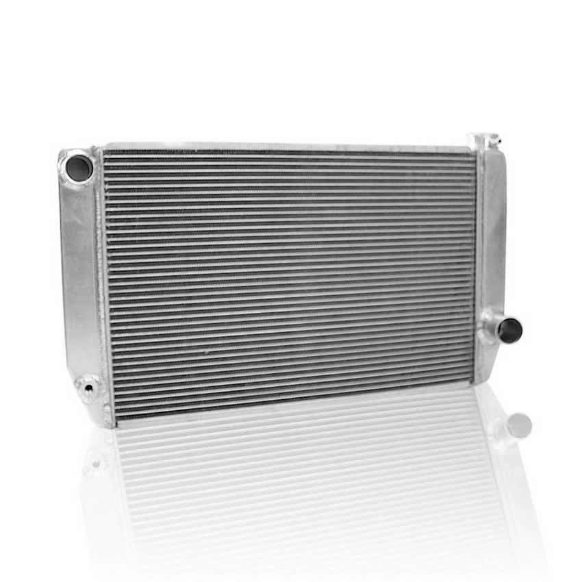 Griffin 155241X Radiator, Universal Fit, 27-1/2 in W x 15-1/2 in H x 3 in D, Driver Side Inlet, Passenger Side Outlet, Aluminum, Natural, Each