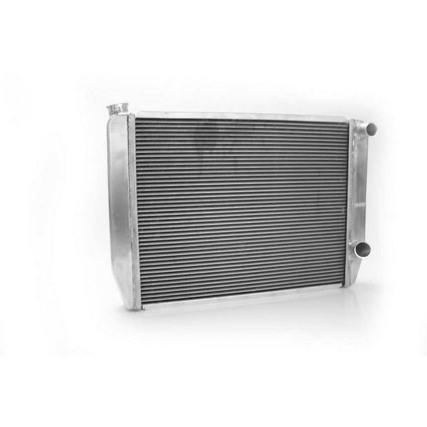 Griffin 158242X Radiator, UniversalFit, 27.5 in W x 19 in H x 3 in D, Passenger Side Inlet, Passenger Side Outlet, Aluminum, Natural, Universal, Each