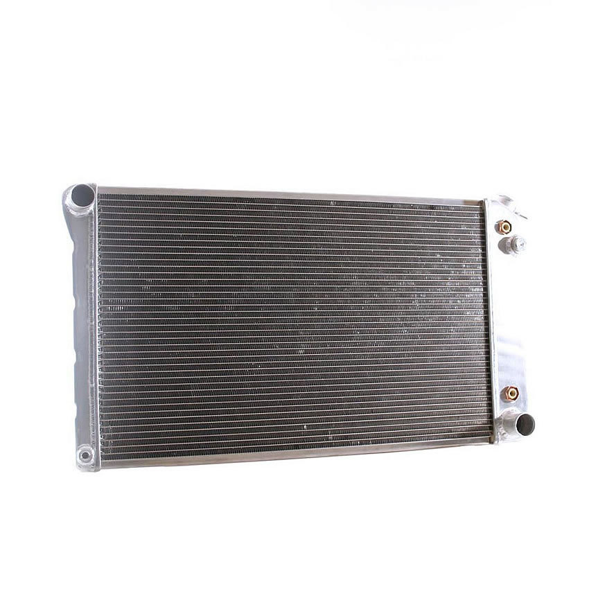 Griffin 670006 Radiator, MegaCoolTube, 34 in W x 16-11/16 in H x 3 in D, Drivers Side Inlet, Passenger Side Outlet, Aluminum, Natural, GM A-Body / G-Body 1967-79, Each