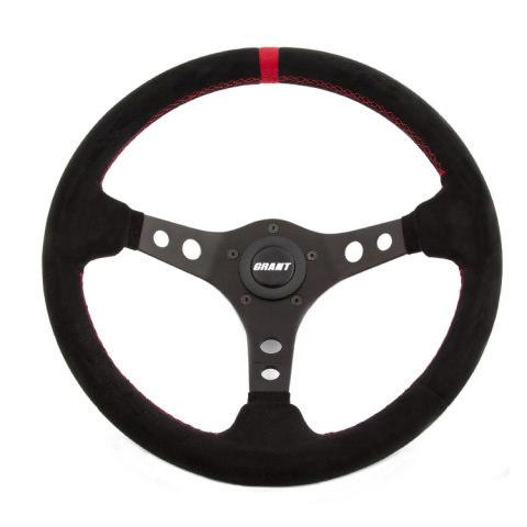 Suede Racing Steering Wheel w/Center Marker