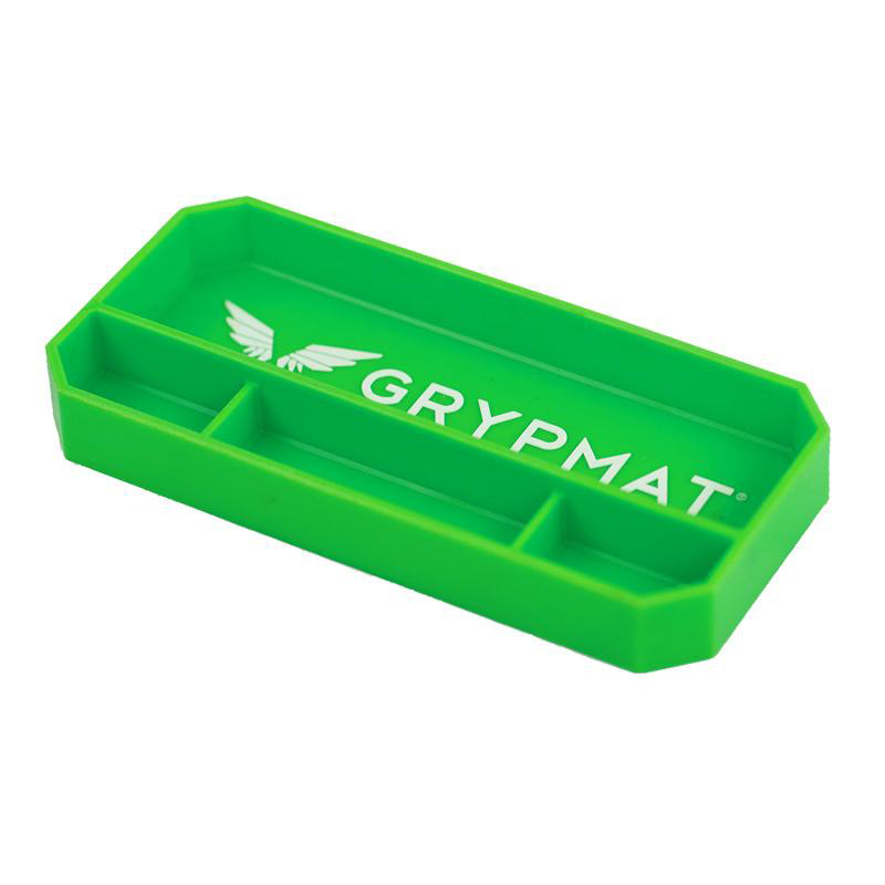 Grypmat GMPS Tool Tray, Grypmat, 9 x 4.25 in, Rectangular, 1 in Thick, Chemical Resistant, Silicone, Green, Each