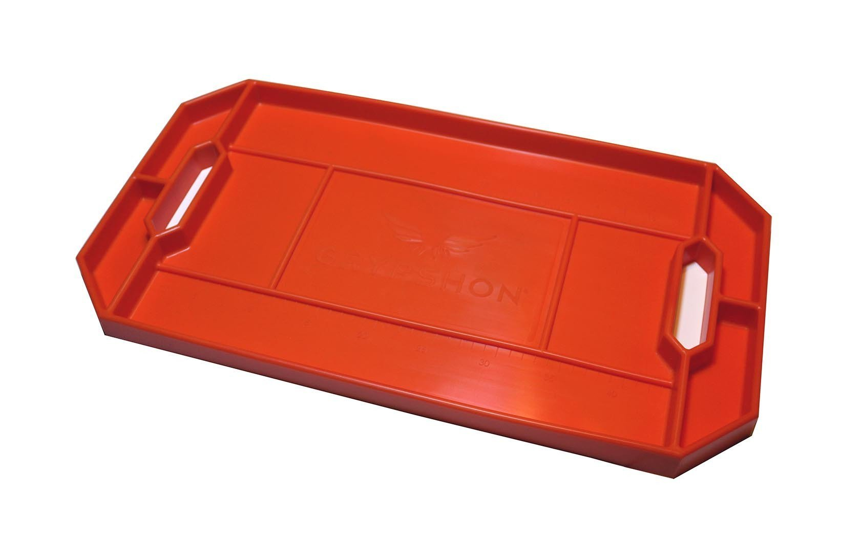 Grypmat RFGM-CR01S Tool Tray, Grypmat, 12 x 22 in, Rectangular, 1 in Thick, Chemical Resistant, Silicone, Orange, Each