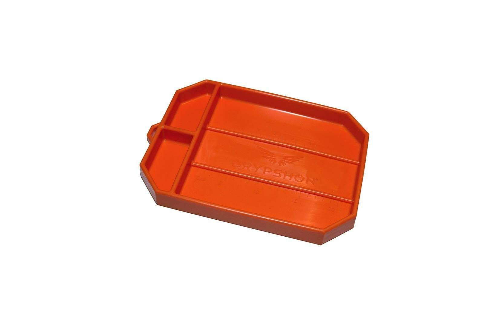 Grypmat RFGM-CR02S Tool Tray, Grypmat, 8 x 12 in, Rectangular, 1 in Thick, Chemical Resistant, Silicone, Orange, Each