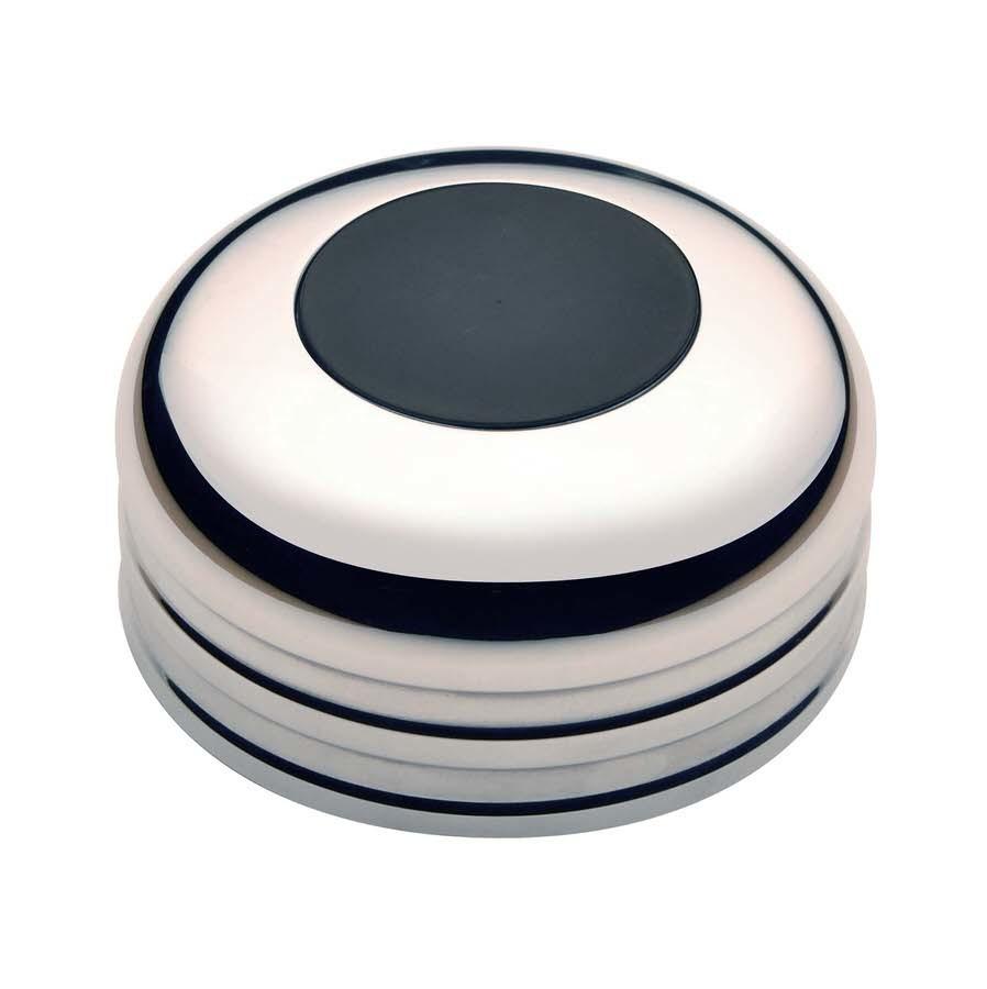 GT3 Horn Button Plain Black Billet