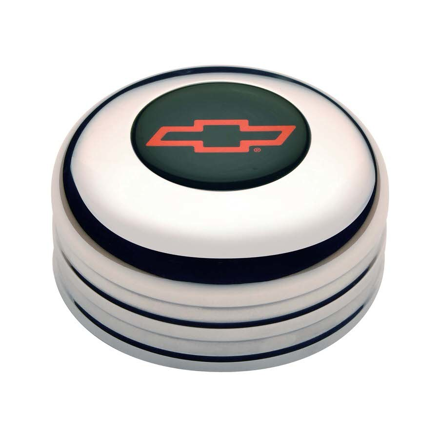 GT3 Horn Button Chevy Bow Tie Red