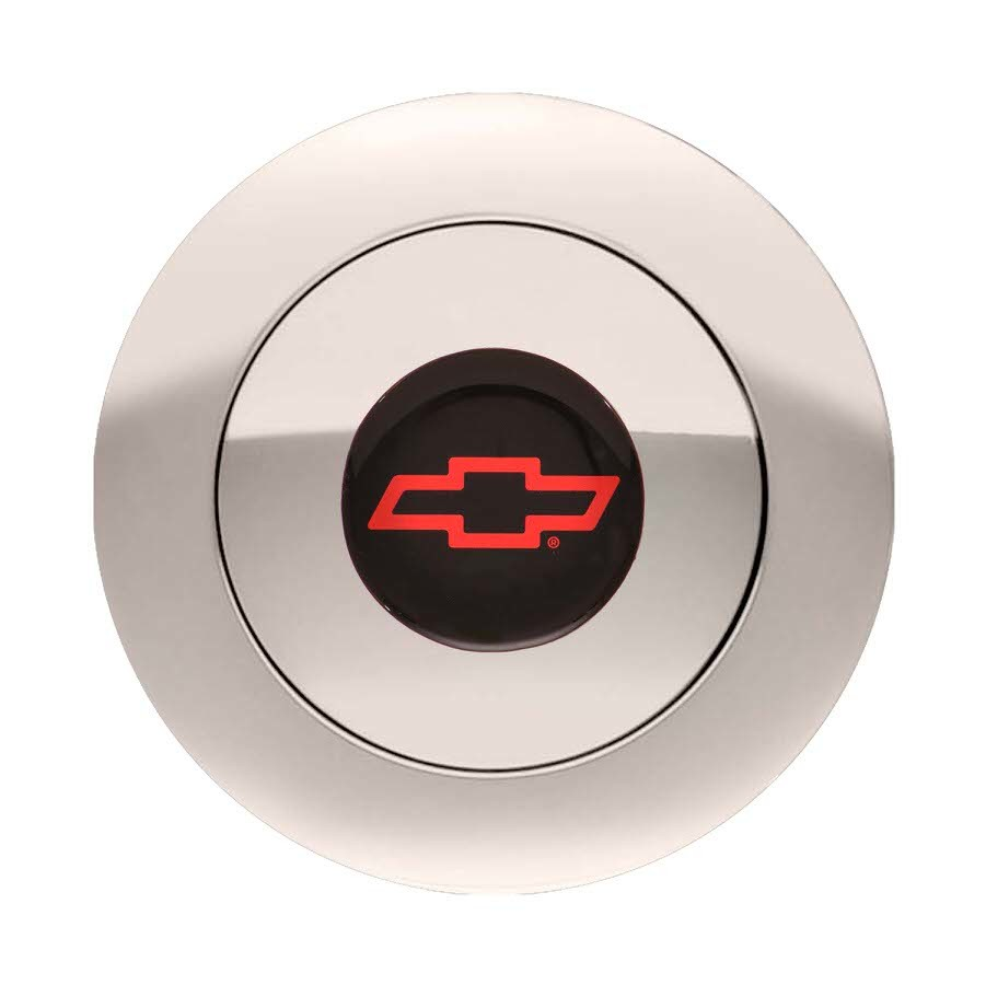 GT9 Horn Button Chevy Bow Tie Red