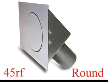 Round Fuel Door  Flat Surfaces