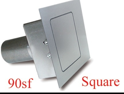 Square Fuel Door  Flat Surfaces