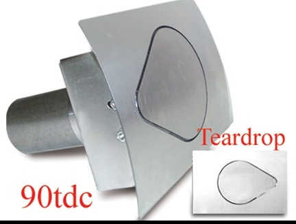 Teardrop Fuel Door  Curved Surface