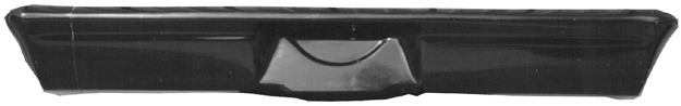 Harwood 14560 Bumper, Rear, Fiberglass, Black, Chevy Nova 1968-72, Each
