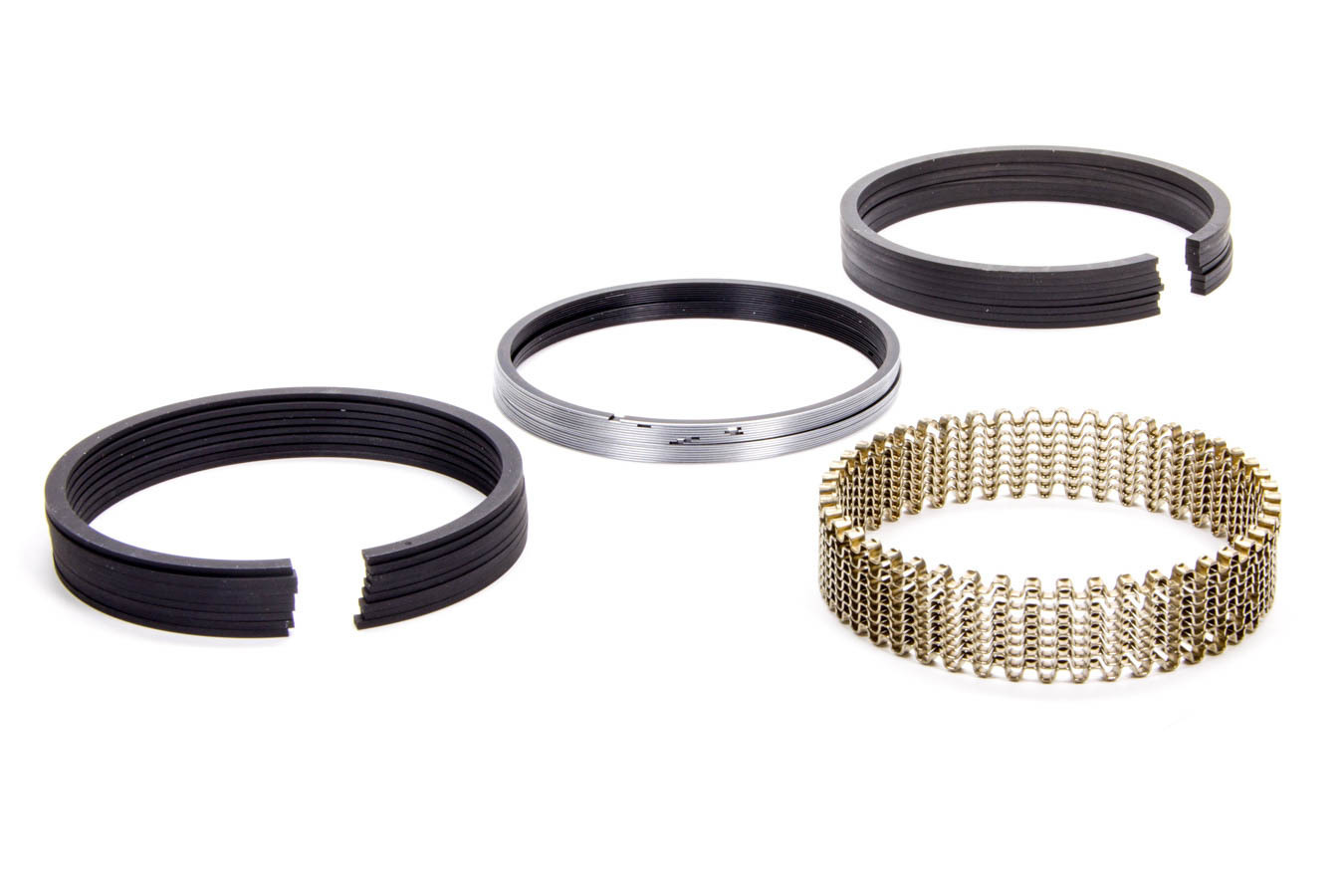 Hastings 139020 Piston Rings, 4.020 in Bore, 5/64 x 5/64 x 3/16 in Thick, Standard Tension, Iron, 8 Cylinder, Kit