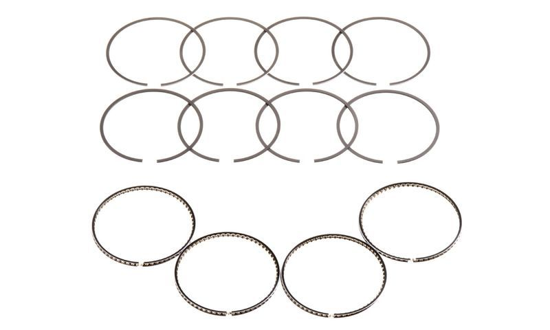Hastings 2C4640 Piston Rings, 2.953 in Bore, 1.2 x 1.5 x 2.8 mm Thick, Standard Tension, Chrome, 4-Cylinder, Kit