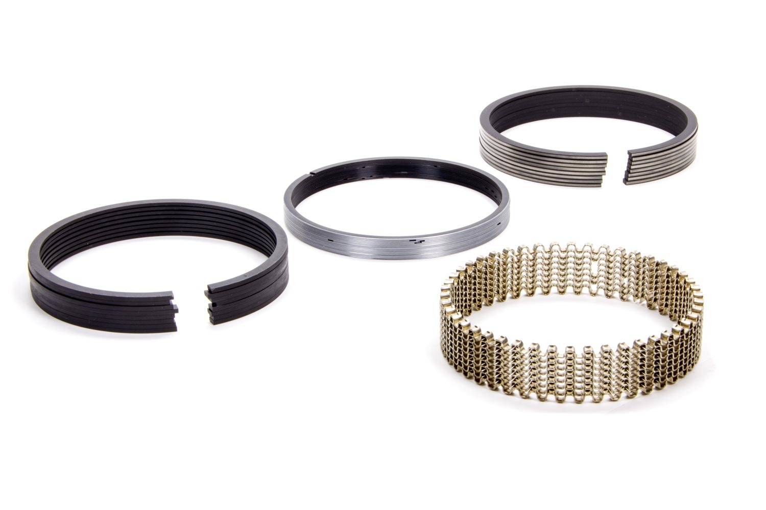 Hastings 2M139040 Piston Rings, 4.040 in Bore, 5/64 x 5/64 x 3/16 in Thick, Standard Tension, Moly, 8 Cylinder, Kit