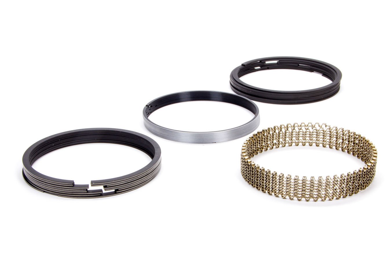 Hastings 2M4346 Piston Rings, 4.000 in Bore, 1.5 x 1.5 x 4.0 mm Thick, Standard Tension, Moly, 8 Cylinder, Kit
