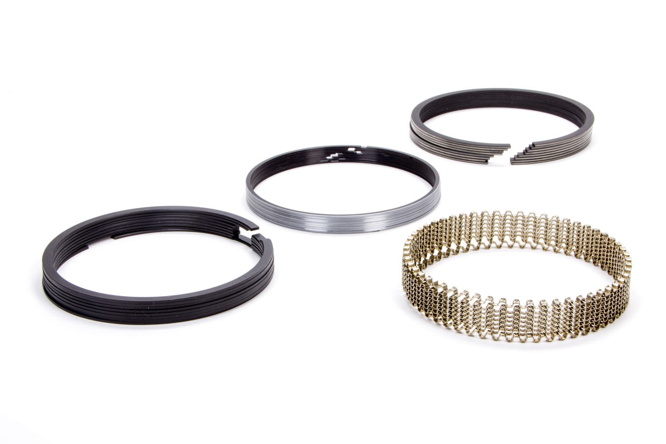 Hastings 2M4346030 Piston Rings, 4.030 in Bore, 1.5 x 1.5 x 4.0 mm Thick, Standard Tension, Moly, 8 Cylinder, Kit
