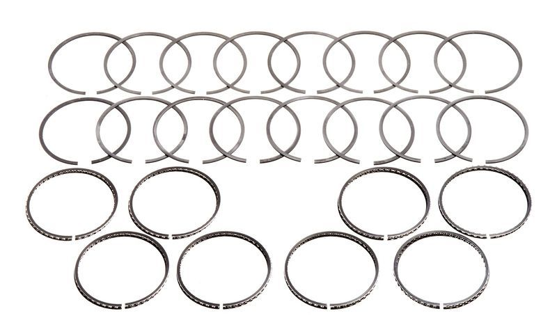 Hastings 2M4626 Piston Rings, 4.000 in Bore, 2.0 x 1.5 x 4.0 mm Thick, Standard Tension, Chrome / Moly, 8 Cylinder, Kit