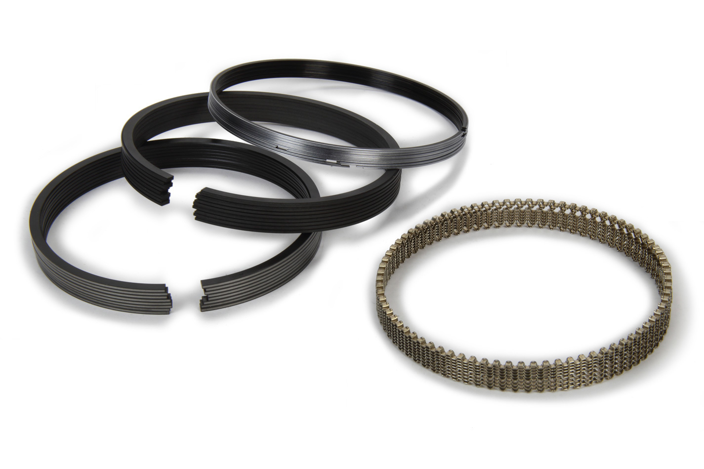 Hastings 2M5292 Piston Rings, 4.065 in Bore, File Fit, 1.5 x 1.5 x 2.5 mm Thick, Standard Tension, Chrome / Moly, 8 Cylinder, Kit
