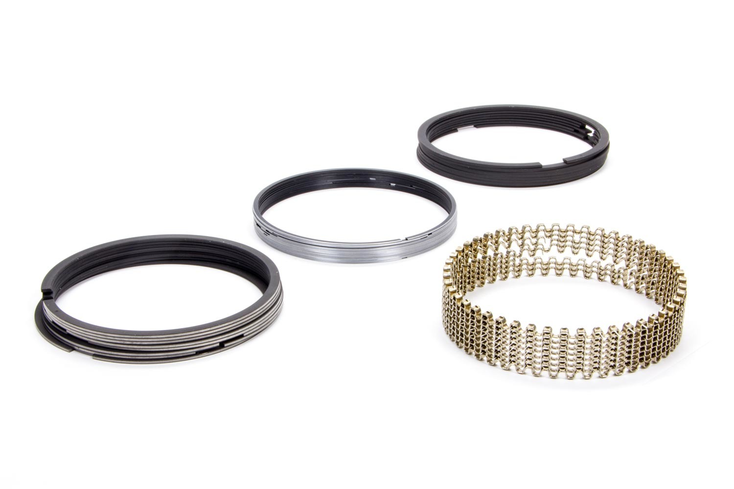 Hastings 2M5508065 Piston Rings, 4.060 in Bore, File Fit, 5/64 x 5/64 x 3/16 in Thick, Standard Tension, Moly, 8 Cylinder, Kit