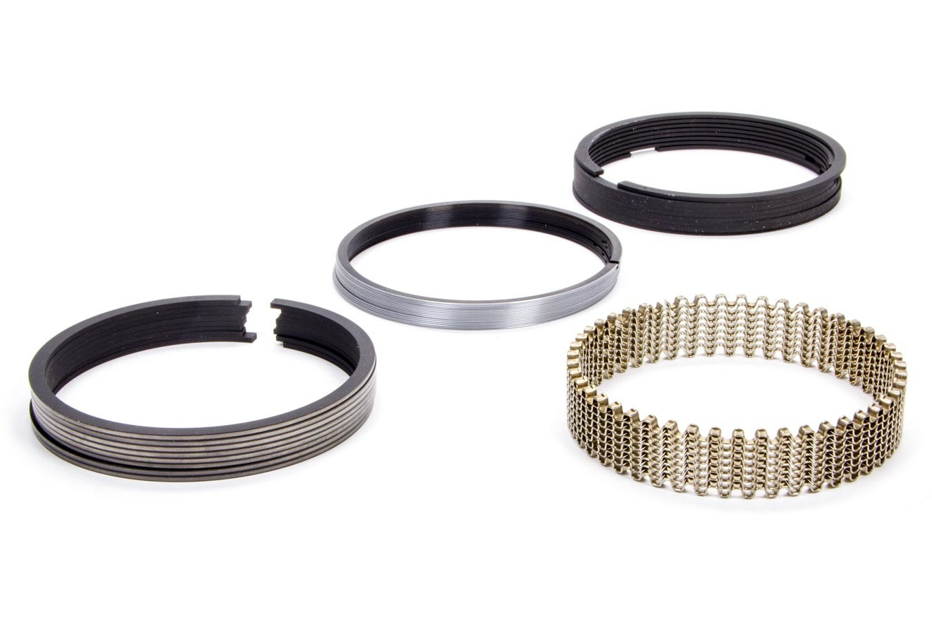 Hastings 2M661040 Piston Rings, 4.165 in Bore, 5/64 x 5/64 x 3/16 in Thick, Standard Tension, Moly, 8 Cylinder, Kit