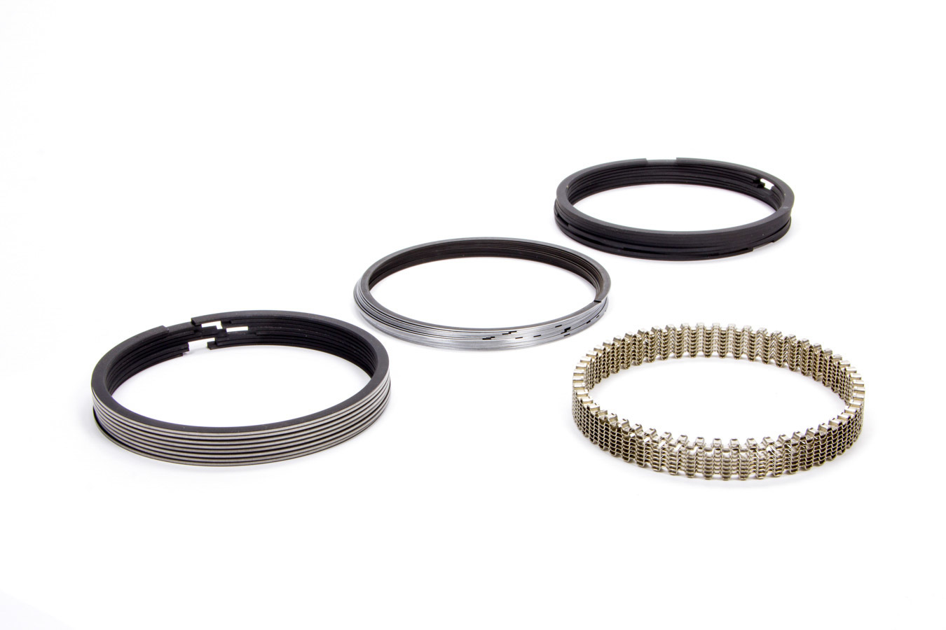 Hastings CM5521030 Piston Rings, Claimer, 4.030 in Bore, 1/16 x 1/16 x 1/8 in Thick, Standard Tension, Plasma Moly, 8 Cylinder, Kit