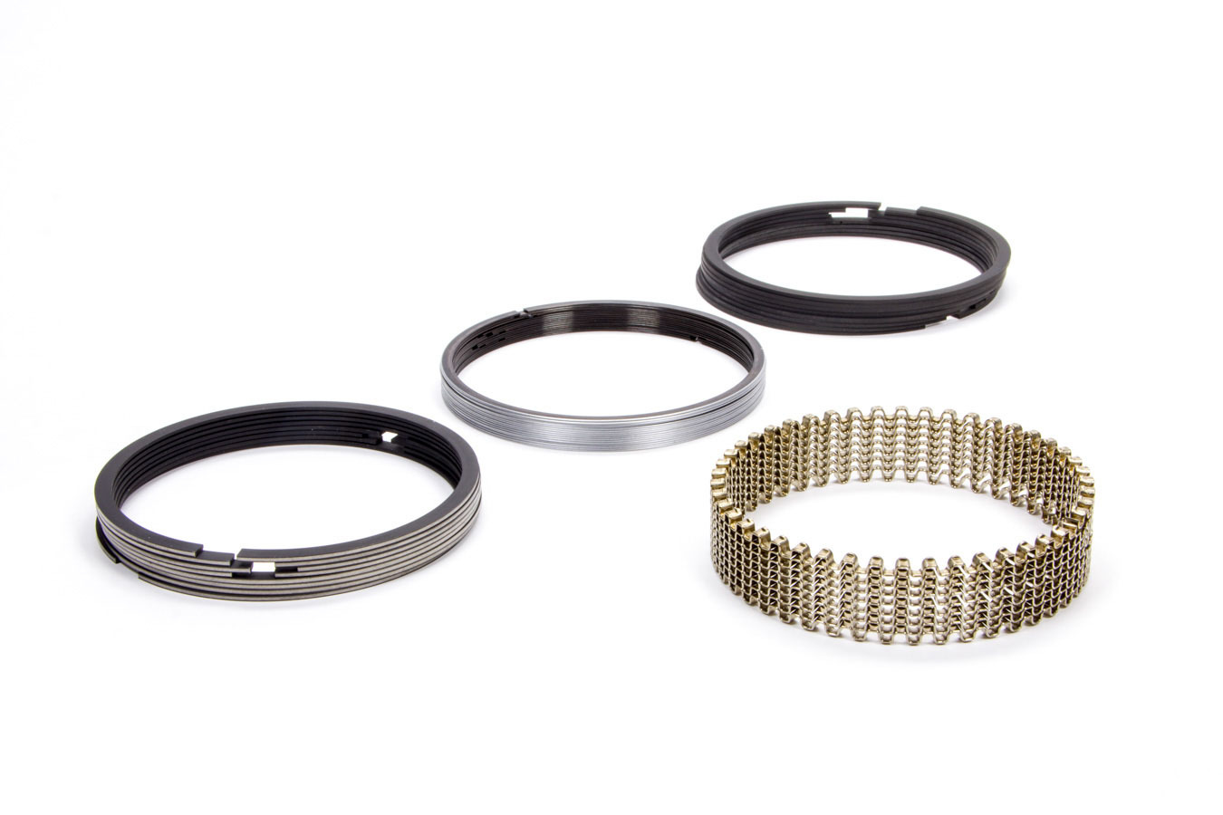 Hastings CM5532030 Piston Rings, Claimer, 4.030 in Bore, 1/16 x 1/16 x 3/16 in Thick, Standard Tension, Plasma Moly, 8 Cylinder, Kit