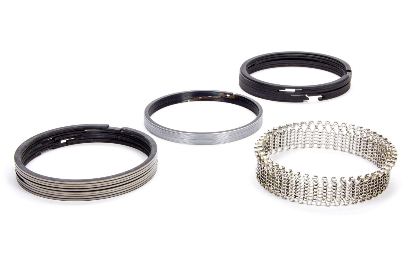 Hastings CM5534030 Piston Rings, Claimer, 4.155 in Bore, 1/16 x 1/16 x 3/16 in Thick, Standard Tension, Plasma Moly, 8 Cylinder, Kit