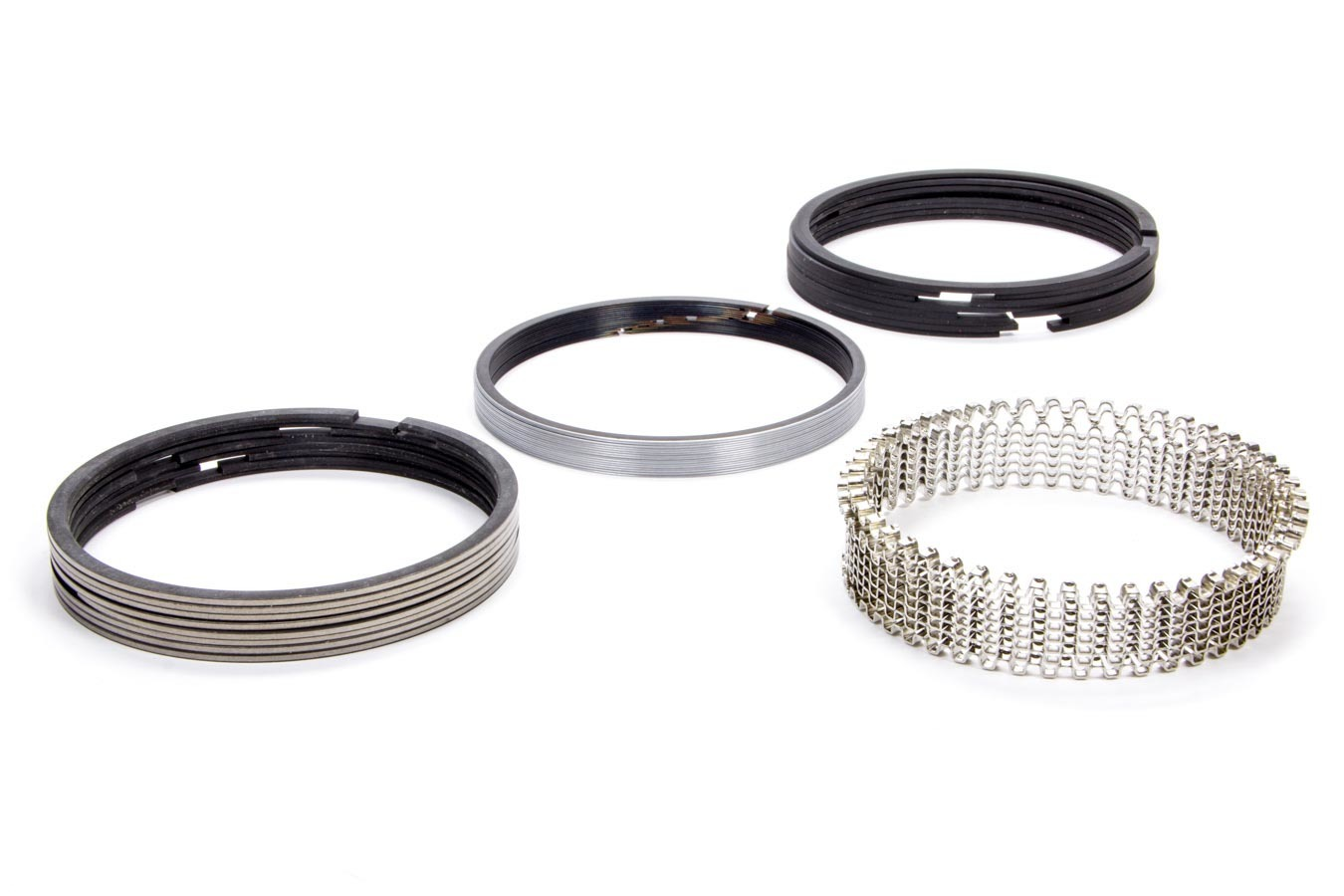 Hastings CM5534040 Piston Rings, Claimer, 4.165 in Bore, 1/16 x 1/16 x 3/16 in Thick, Standard Tension, Plasma Moly, 8 Cylinder, Kit