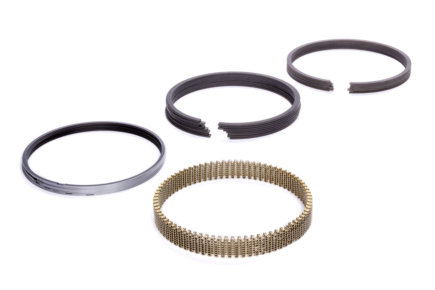 Hastings SN9065035 Piston Rings, 4.035 in Bore, 1.2 x 1.5 x 3.0 mm Thick, Standard Tension, Stainless Steel, 8 Cylinder, Kit