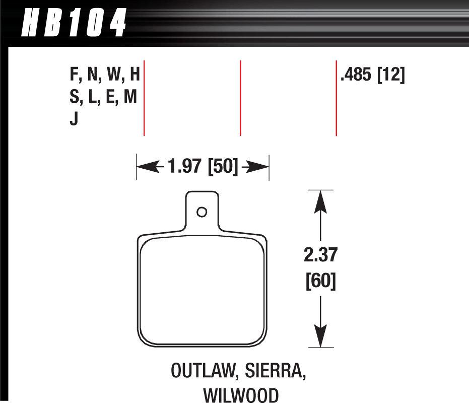 Brake Pad Set-Race DR97 Wilwood Dynalite Single