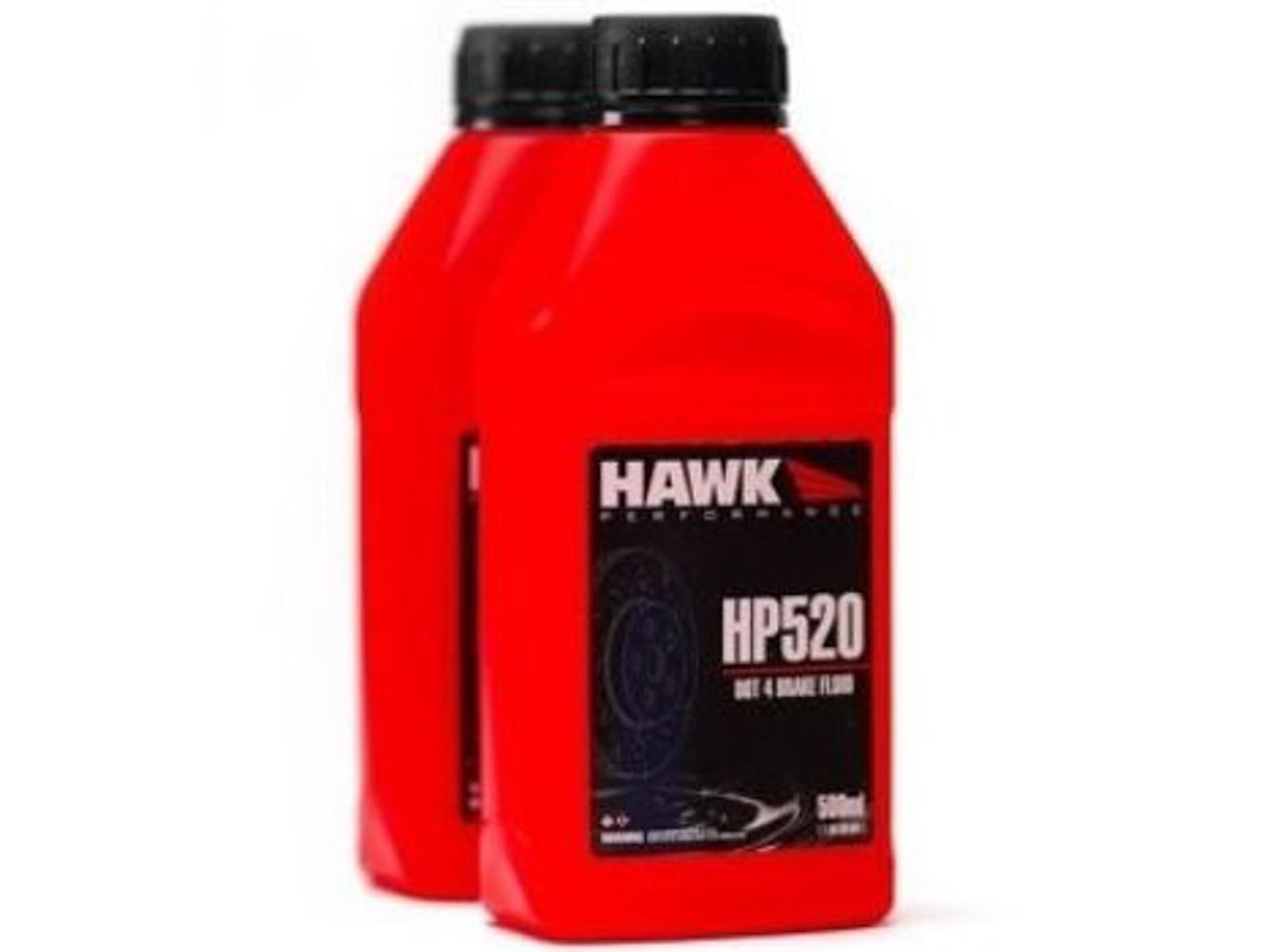 Hawk Brake HP520 Brake Fluid, HP520, Street, DOT 4, 500 ml, Each