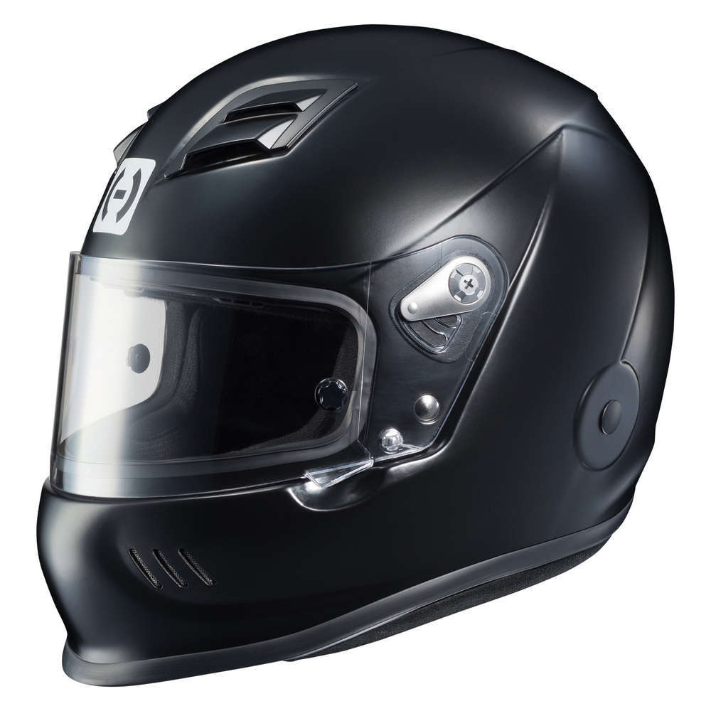 HJC Motorsports 2BXXL15 Helmet, AR-10 III, Snell SA2015, Head and Neck Support Ready, Flat Black, 2X-Large, Each
