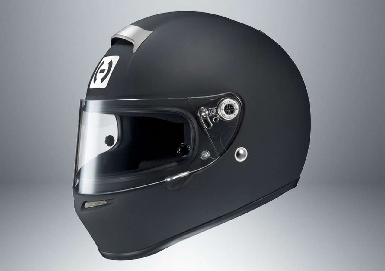 HJC Motorsports 6RBS10 Helmet, SI-12R, Snell SA2010, Head and Neck Support Ready, Flat Black, Small, Each