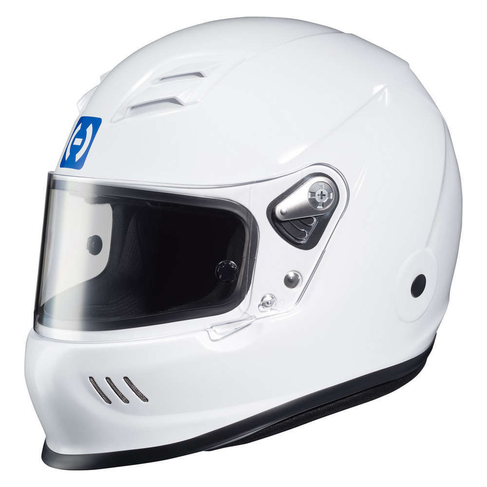 HJC Motorsports H70WM20 Helmet, H70, Full Face, Snell SA2020, FIA Approved, Head and Neck Support Ready, White, Medium, Each