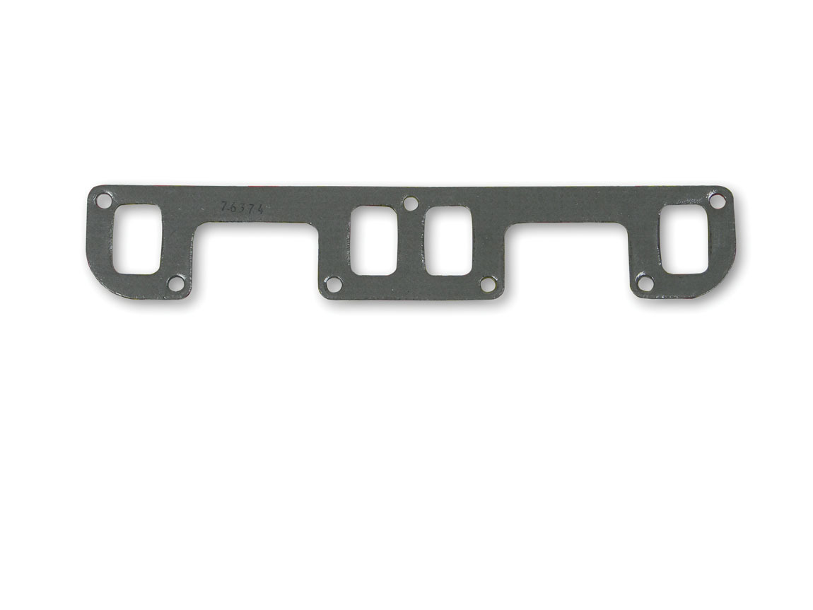 Hooker 10804 Exhaust Manifold / Header Gasket, Super Competition, 1.950 x 1.260 in Rectangle Port, Steel Core Laminate, Small Block Buick, Pair