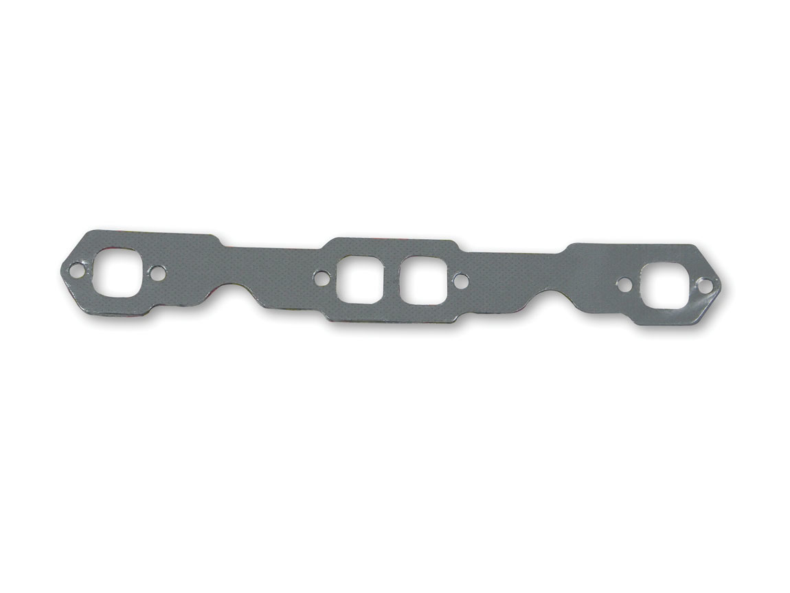Hooker 10808 Exhaust Manifold / Header Gasket, Super Competition, 1.340 in Square Port, Steel Core Laminate, Small Block Chevy, Pair