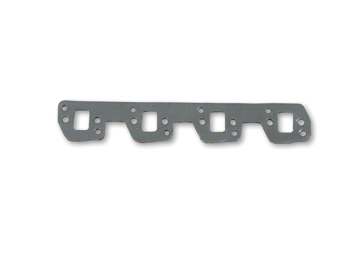 Hooker 10861 Exhaust Manifold / Header Gasket, Super Competition, 1.380 x 1.000 om Rectangle Port, Steel Core Laminate, Small Block Ford, Pair