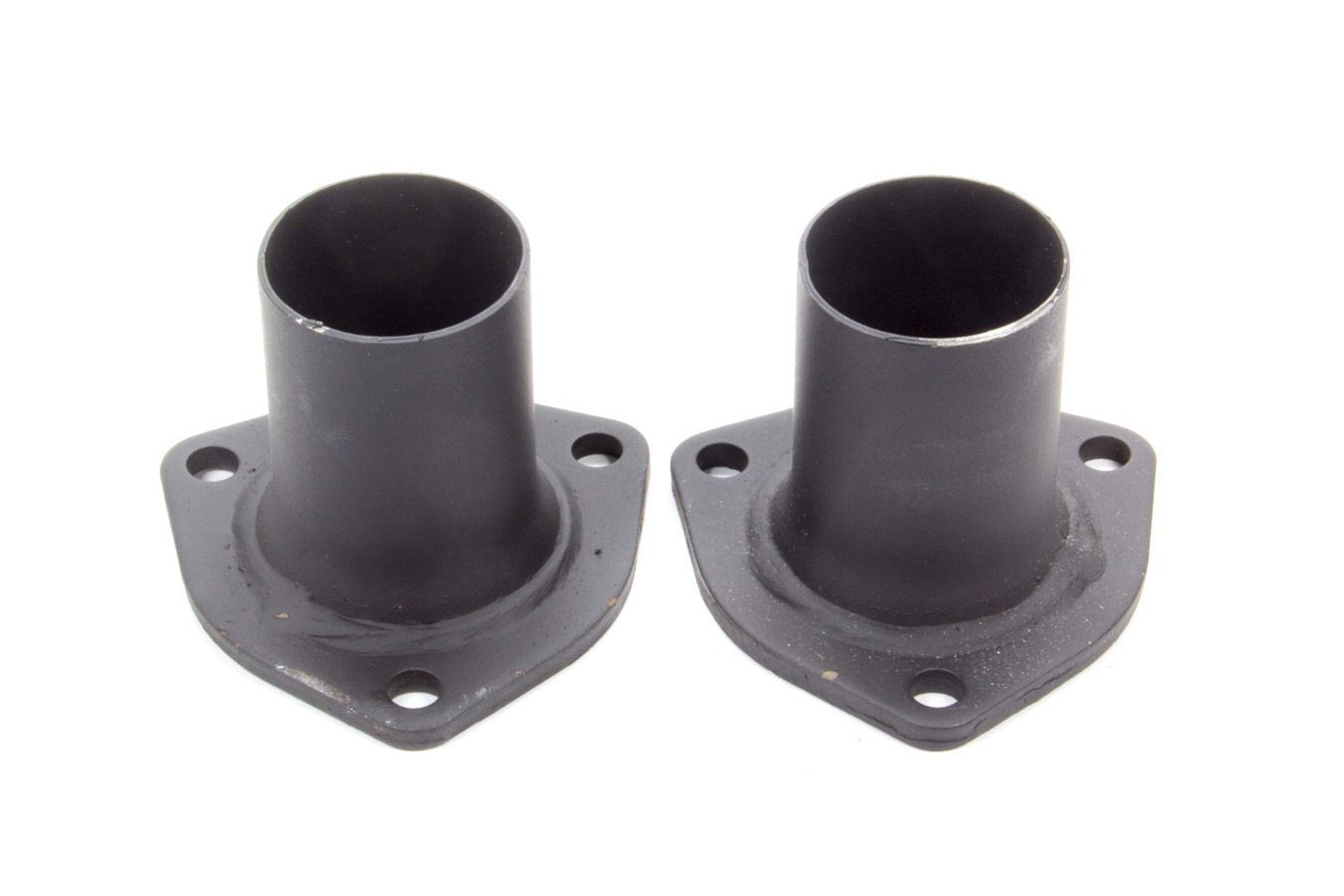 Hooker 11025 Collector Reducer, 2-1/2 in Inlet to 2 in Outlet, 3-Bolt Flange, Steel, Black Paint, Pair