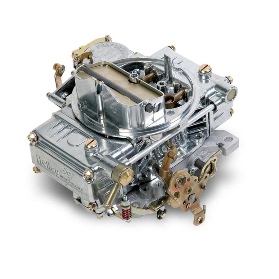 Holley 0-1850S Carburetor, Model 4160, 4-Barrel, 600 CFM, Square Bore, Manual Choke, Vacuum Secondary, Single Inlet, Silver, Each