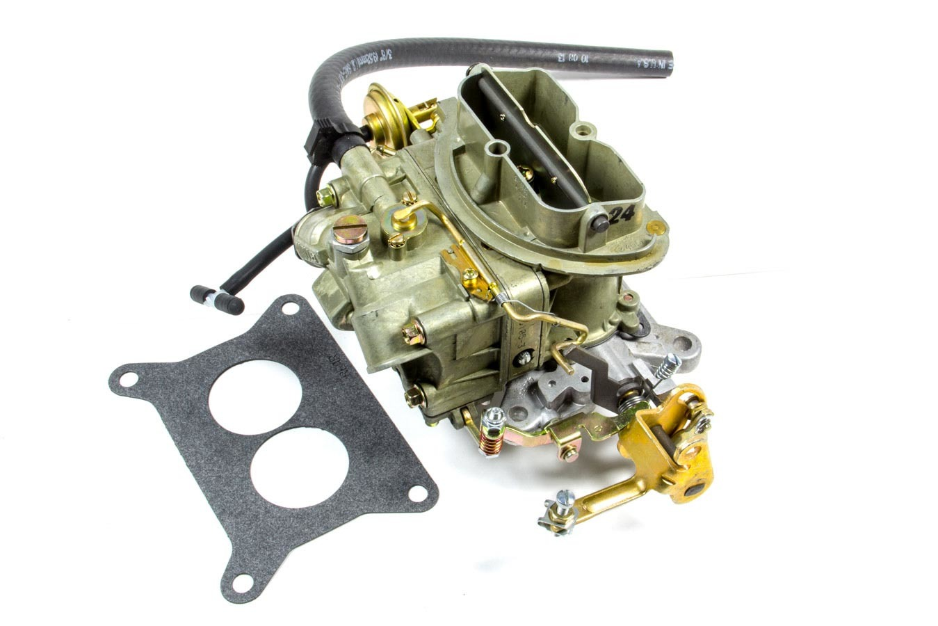 Holley 0-4144-1 Carburetor, OEM Muscle car, 2-Barrel, 350 CFM, Holley Flange, Remote Choke, Single Inlet, Chromate, Six Pack Center Carb, Each
