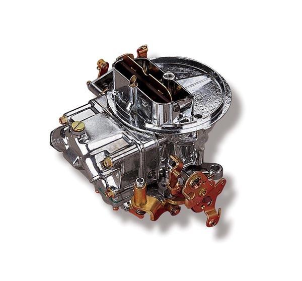 Holley 0-4412S Carburetor, Model 2300, 2-Barrel, 500 CFM, Holley Flange, Manual Choke, Single Inlet, Silver, Ford AT Kickdown, Each