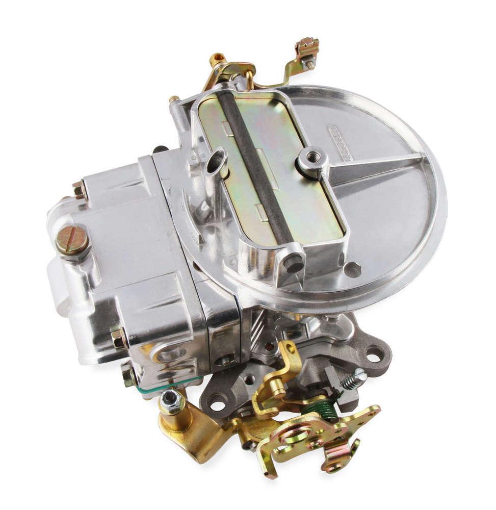 Holley 0-4412SA Carburetor, Model 2300, 2-Barrel, 500 CFM, Holley Flange, Manual Choke, Single Inlet, Silver, Chrysler / GM / Ford AT Kickdown, Each