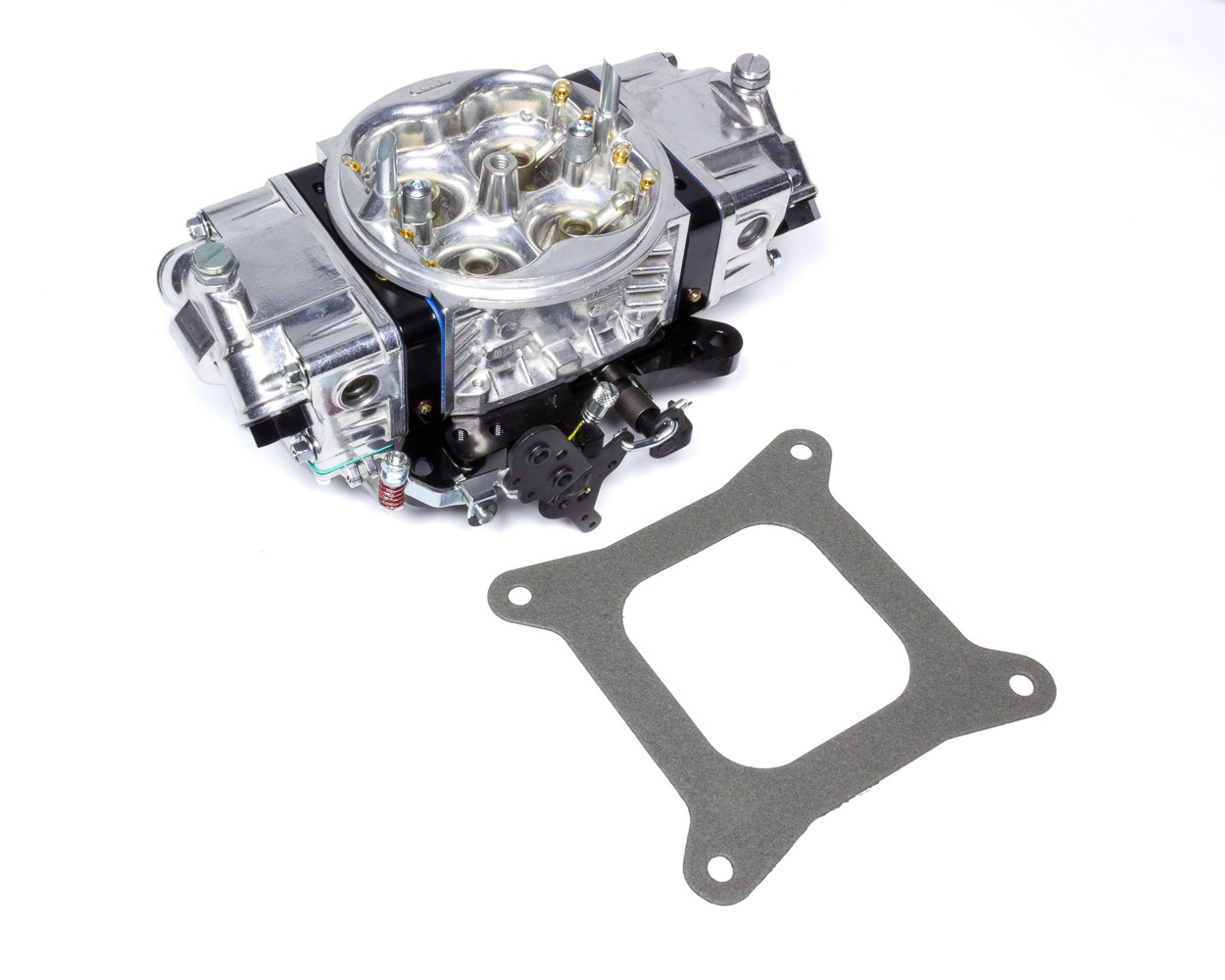 Holley 0-67199BK Carburetor, Track Warrior, 4-Barrel, 650 CFM, Square Bore, No Choke, Mechanical Secondary, Dual Inlet, Black / Silver, Each