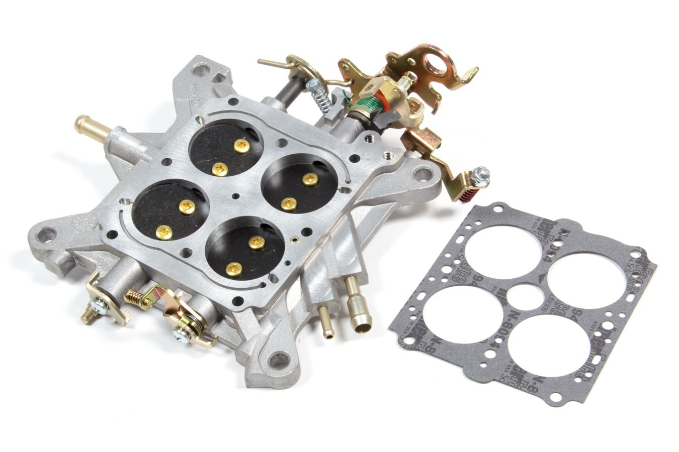Holley 112-20 Carburetor Base Plate, Complete, Aluminum, Natural, Holley 4160 Carburetor, Each