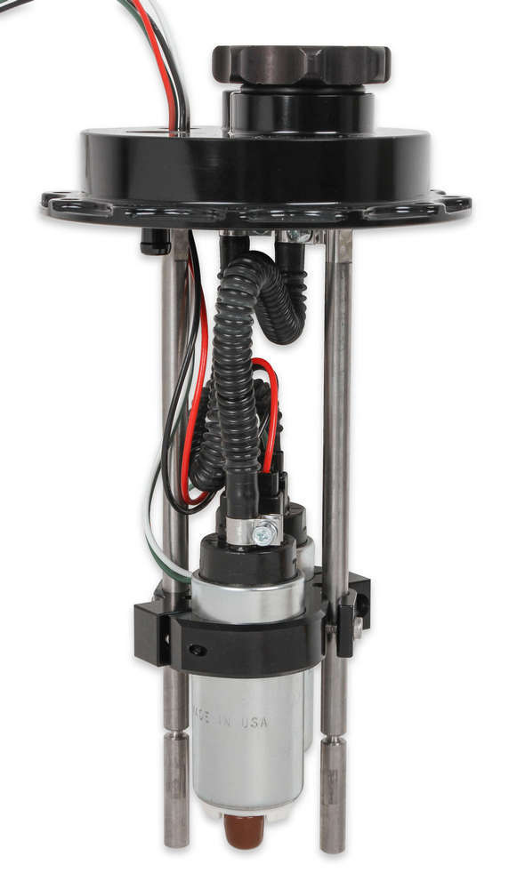 Holley 12-140 Fuel Pump, Electric, In-Tank, 4-3/8 in 6-Bolt Flange, 255 lph, 8 AN Inlet, 10 AN Outlet, 7-1/2 to 12 in Depth, Installation Hardware Included, Alcohol / Gas, Kit