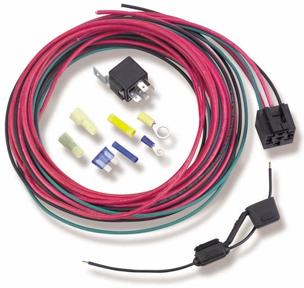 Holley 12-753 Relay Switch, Single Pole, 30 amp, 12V, Wiring Included, Fuel Pump, Kit